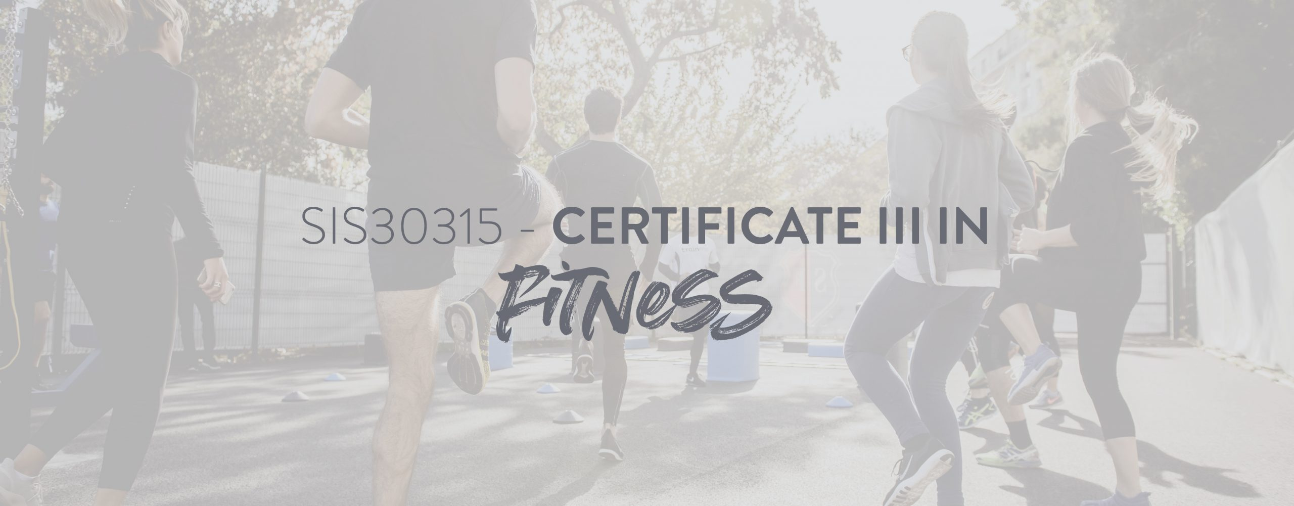 Group Fitness Trainer qualified with the SIS30315 - Certificate III In Fitness taking clients through an outdoor training session.